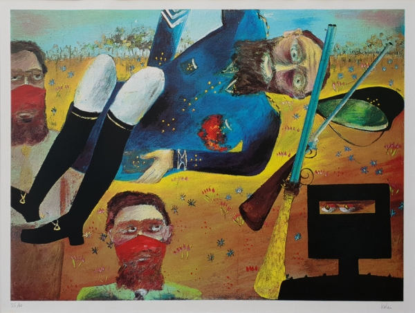 Death of Sergeant Kennedy. Sidney Nolan.