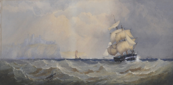 In Full Sail off the Coast of Dover 1866. Captain Walter William May.