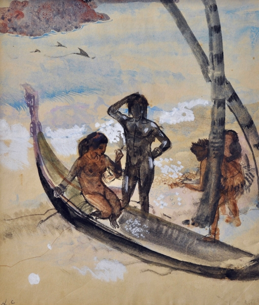 Two Pacific South Sea Studies. Leon Carre.