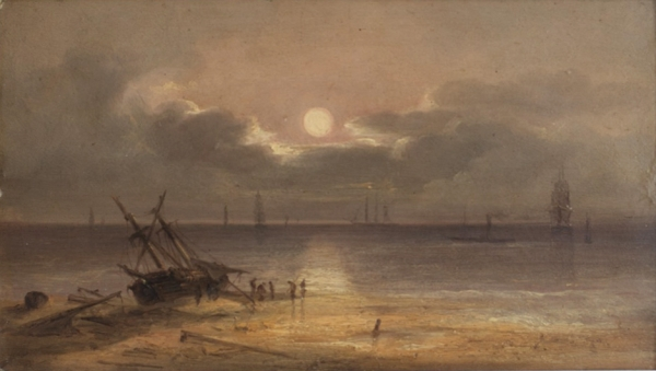 Evening Rescue c1880s coast of England. Isaac Jenner.