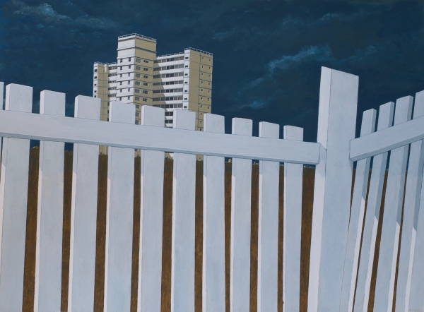 Chipped Fence, Nelson Heights 2016. Jeff Ferris.