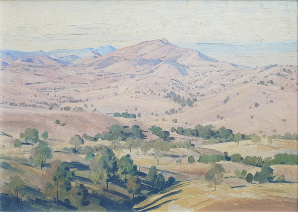 Across the Foothills, Mirannie NSW. Alfred H. Cook.