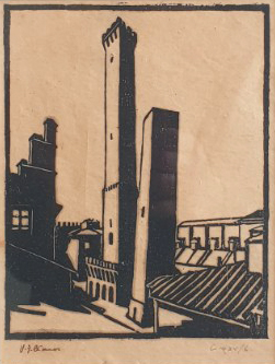 Spanish Towers 1936. Vic O'Connor.