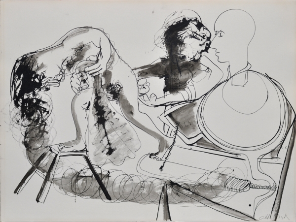 Potter and His Model 1969. Arthur Boyd.