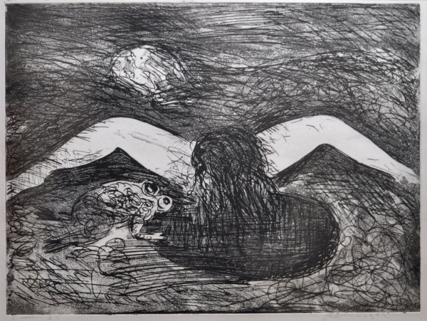 Crouching Nude With Frog 1962-3. Arthur Boyd.