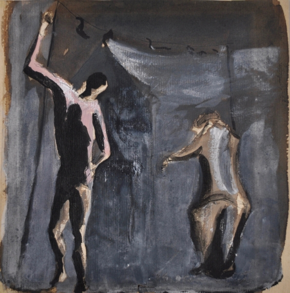 Study of Acrobats c1940. Vic O'Connor.