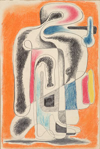 Human Abstract Image 1940s. Clifford Bayliss.