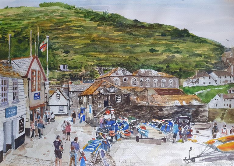Port Isaac from the Pub 2018. Brian Pieper.
