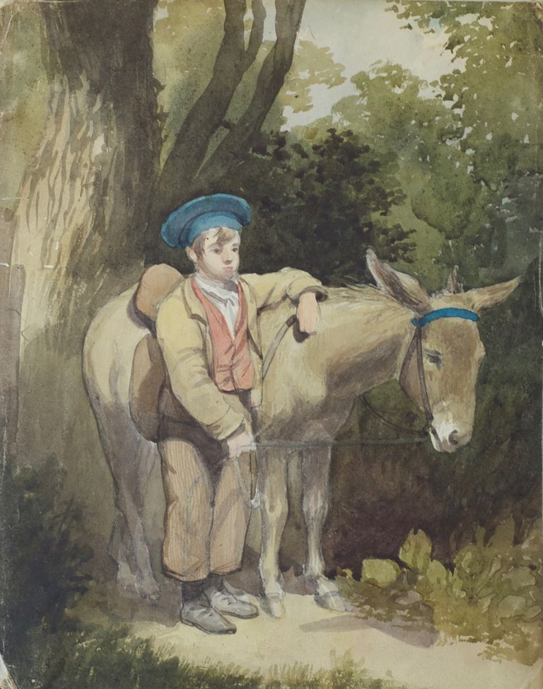 Boy with Donkey. William H. Hunt.