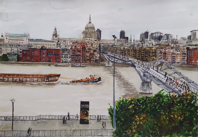 The Thames from the Tate 2012. Brian Pieper.