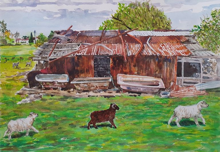 Old Sheds, German Settlement c1850's, Thomastown 2016. Brian Pieper.