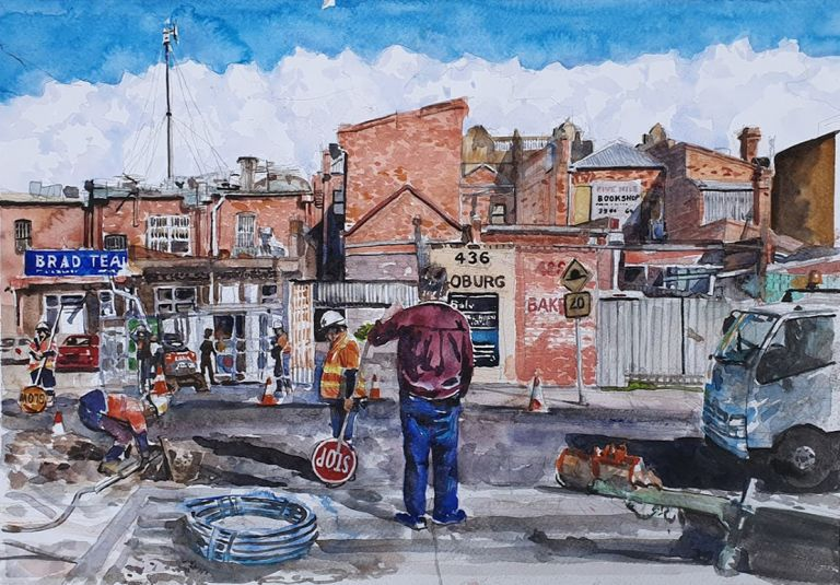 Behind the Shops, the Workers, Coburg 2019. Brian Pieper.