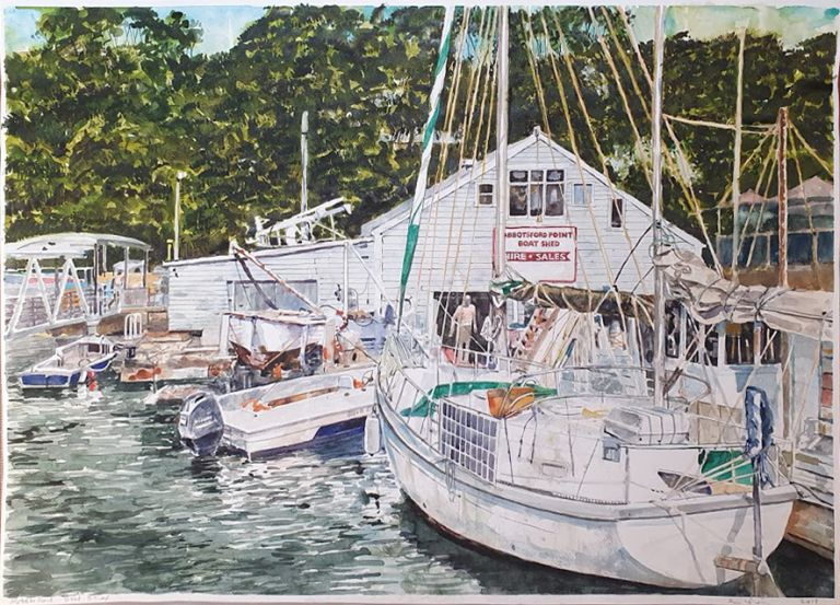Abbotsford Boat Shed NSW 2018. Brian Pieper.