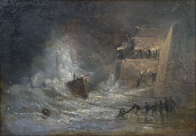 Salvaging a Wrecked Ship. John Skinner Prout.
