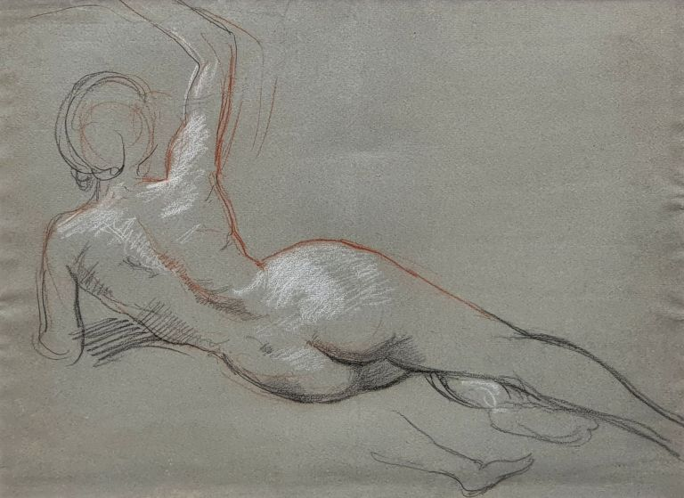 Reclining Female Nude. William Linnell.