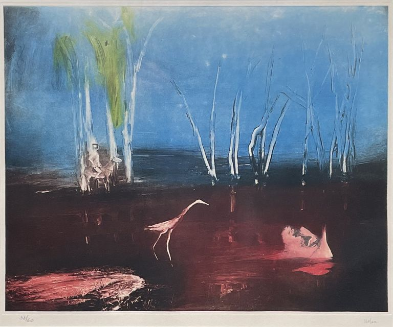 Swamp with Kelly and Policeman. Sidney Nolan.