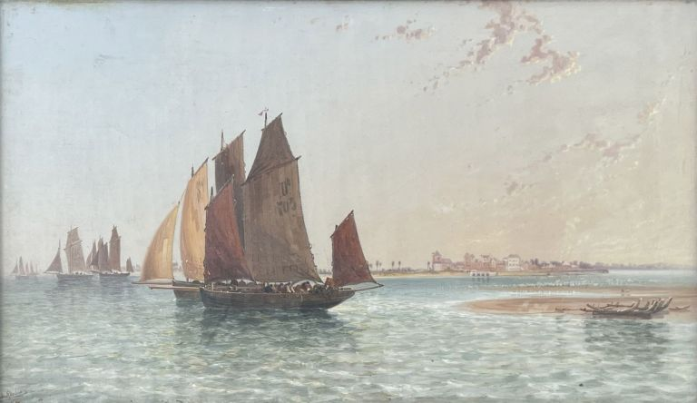 French Coast at the Mouth of the Somme 1878. Arthur Joseph Meadows.