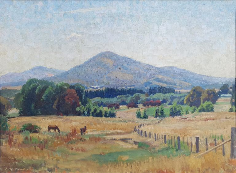 Mount Ainslie from the Site of Lotus Bay 1957. Douglas Dundas.