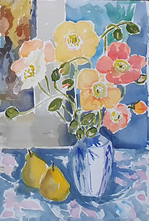 Poppies and Pears. Nada Hunter.