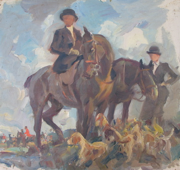 Fox Hunters and Hounds. Harold Septimus Power.
