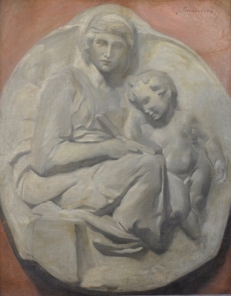 Relief Sculpture after Tondo Pitti by Michelangelo c1880. Charles D. Richardson.