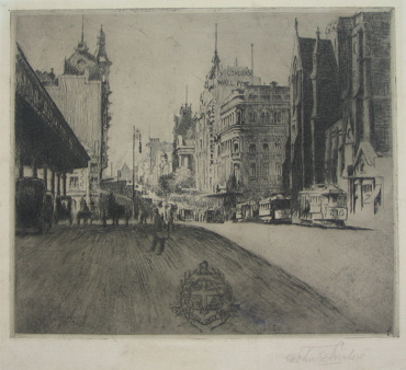 The Gate of the City, Melbourne 1924. John Shirlow.