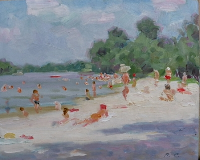 Swimmers on the Sandbank 1963. Petr Smukrovich.