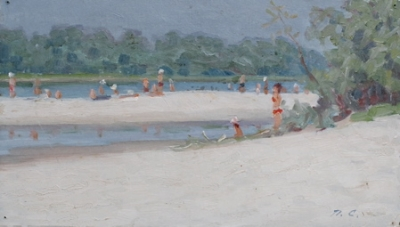 Bathers by the River 1963. Petr Smukrovich.