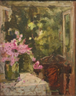Azaleas in the Doorway. Irina Kovaleva.