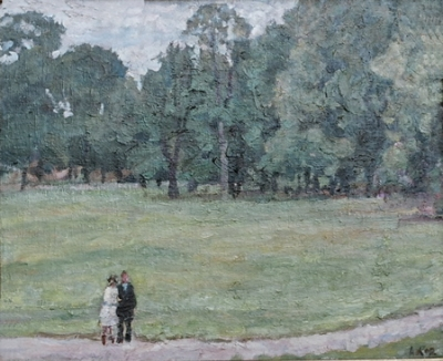 A Walk in the Park c1960. Aba Masovich Kor.
