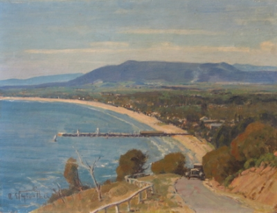 Frankston from Oliver's Hill. R. E. Taylor-Ghee.