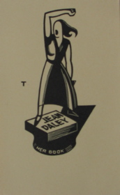 Bookplate for Jean Daley 1930. Eric Thake.