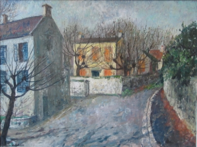 A Street in Auvers, France. Phyl Waterhouse.