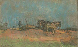 Ploughing the Fields. Charles Wheeler.