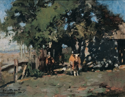 The Farmyard 1910. Walter Withers.