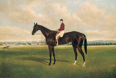 Dunlop with Jockey Up at Caulfield 1888. Frederick Woodhouse Jnr.
