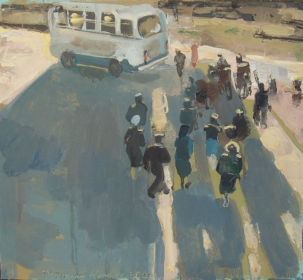 Early Morning Bus. Anja Tchepets.