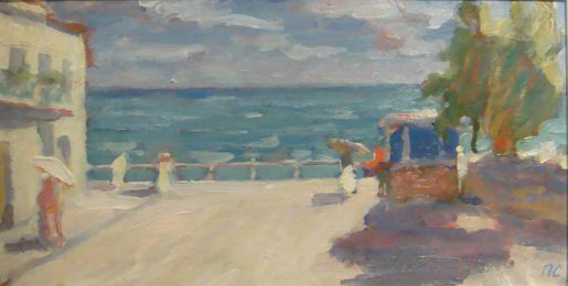 The Promenade at Gurzuf 1965. Petr Smukrovich.