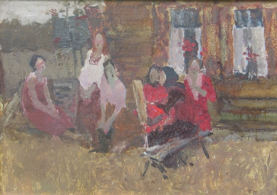 Sketch for Evening 1979 (Singing in the Village). Sergei Rudnev.