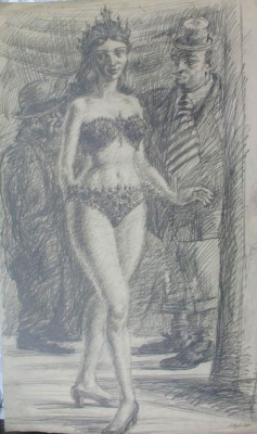 Dancer with Two Men 1948. Clifford Bayliss.