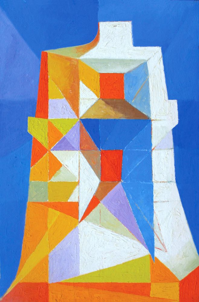Abstract in White, Orange, Yellow and Blue 1965-70. Clifford Bayliss.