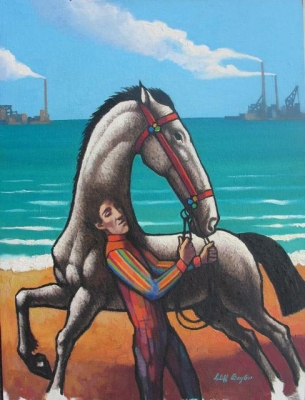 Horse and Rider at Williamstown. Clifford Bayliss.