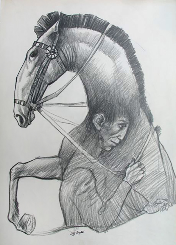 Horse and Rider. Clifford Bayliss.