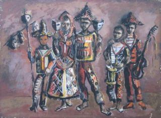 Dancers with Masks. Kenneth Rowell