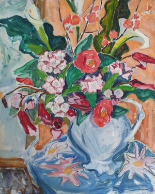 Still Life with Camelias and Magnolia. Nada Hunter