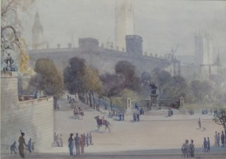 Horse Guards Parading at Whitehall. Albert Henry Fullwood