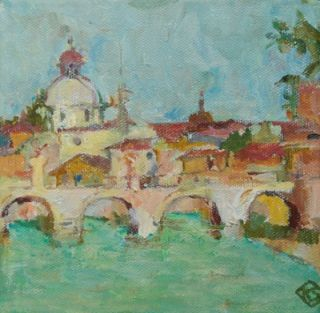 View from the River Tiber, Rome. Kay Stewart
