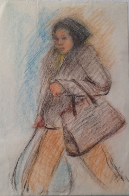 Shopper c1988. Mary Hammond
