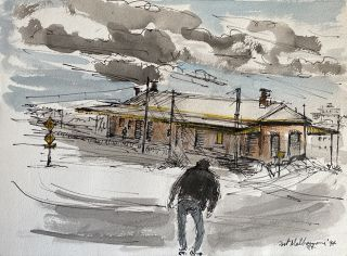 Old Station, Port Melbourne 1994. Mary Hammond