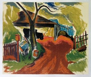 Mount Macedon Garage 1947. Alan Sumner